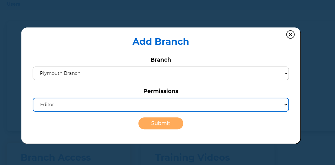 Virtual Tour Add Branch To User